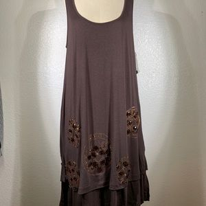 Johnny Was two ten ten five jersey Dress Sz M NWT